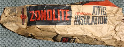 zonolite vermiculite bag side view  empty bag