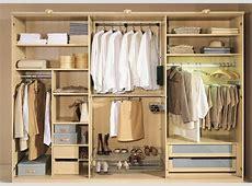Interiores de armarios para hombres y mujeres