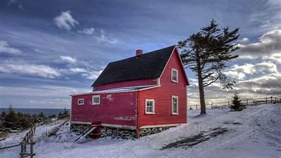 Winter Farmhouse Farm Wonderful Wallpapers Desktop Tree