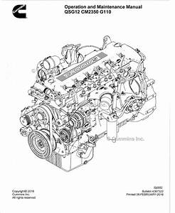 Cummins Engine Qsg12 Cm2350 G110 Operation Maintenance Pdf