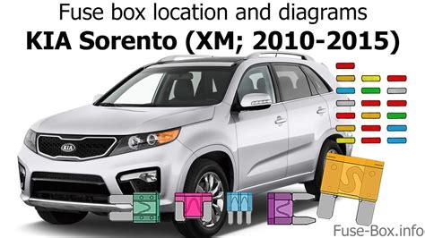 Fuse Box Location Diagrams Kia Sorento