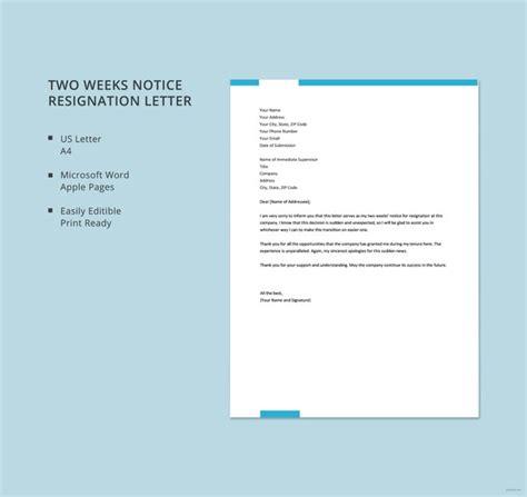 resignation letter templates   sample