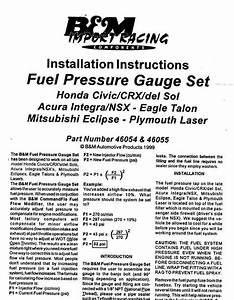 B U0026m Fuel Pressure Regulator Instructions