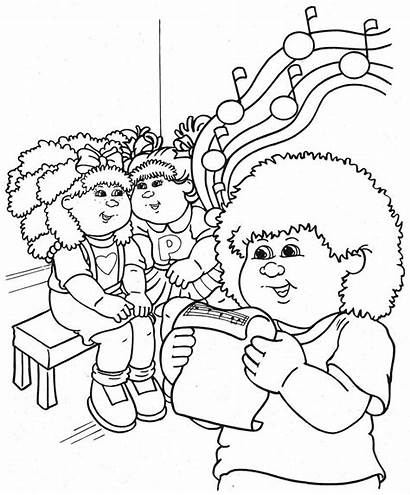 Cabbage Patch Coloring Pages Clipart Colouring Sheets