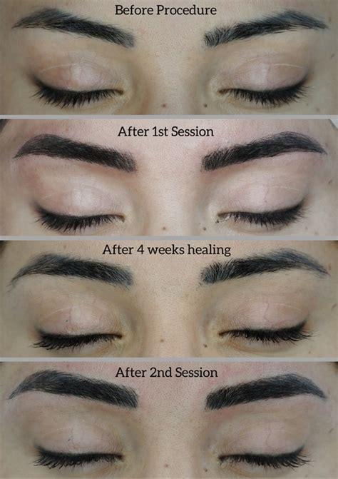 permanent makeup eyebrows healing time mugeek vidalondon