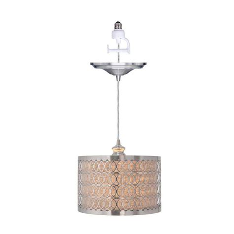 pendant lighting home depot home decorators collection 1 light brushed nickel