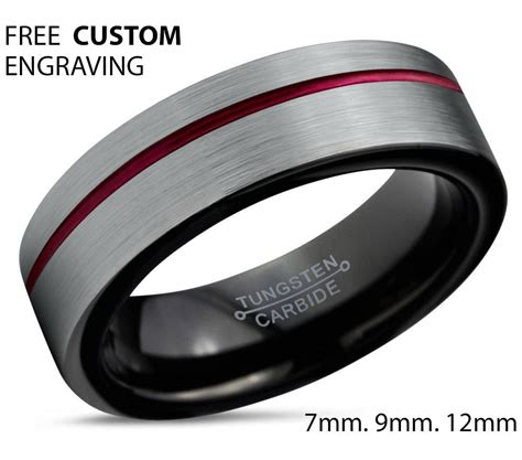 photo  black  red wedding bands