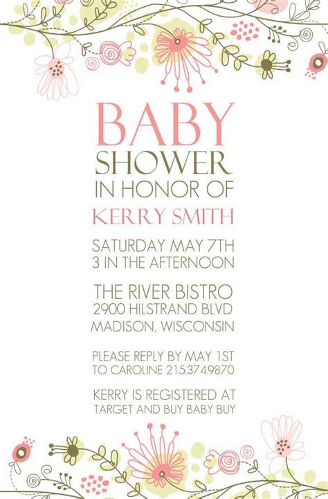 floral border unisex baby shower  babies  pinterest