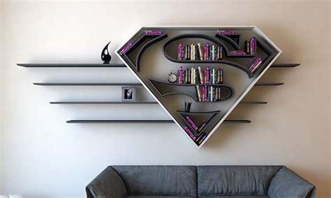 rak standing the concept bookshelf inspired by superman s logo gadgetsin