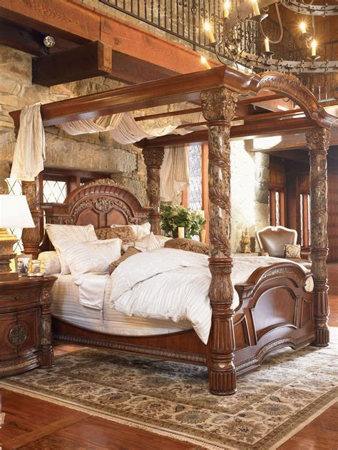 villa valencia canopy bedroom set  aico