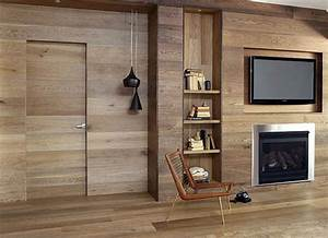 wooden wall panelling and wood furniture eco interior With interior decorating wood panel walls