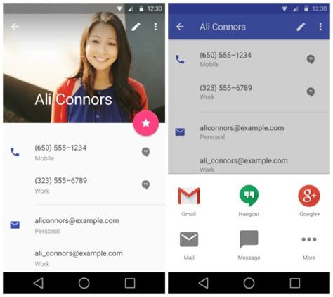 contacts android sneak peek at android l s redesigned settings gmail