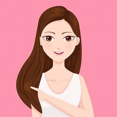 Cabelo Liso Mulher Mujeres Animados Cabellos Lacios