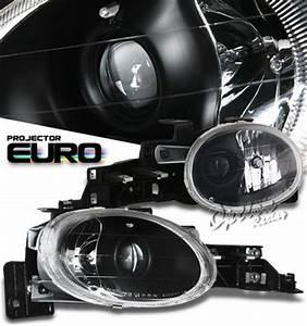 Dodge Neon 1995 1999 Black Projector Headlights