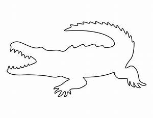 Crocodile pattern Use the printable outline for crafts