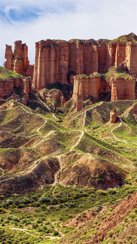 unusual colored rocks  zhangye danxia landform