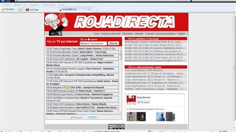 Rojadirecta is here for you offering all sports links for free. Roja directa en directo - YouTube