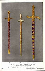 Postcard The Jewelled Sword of State, Curtana Sword of ...