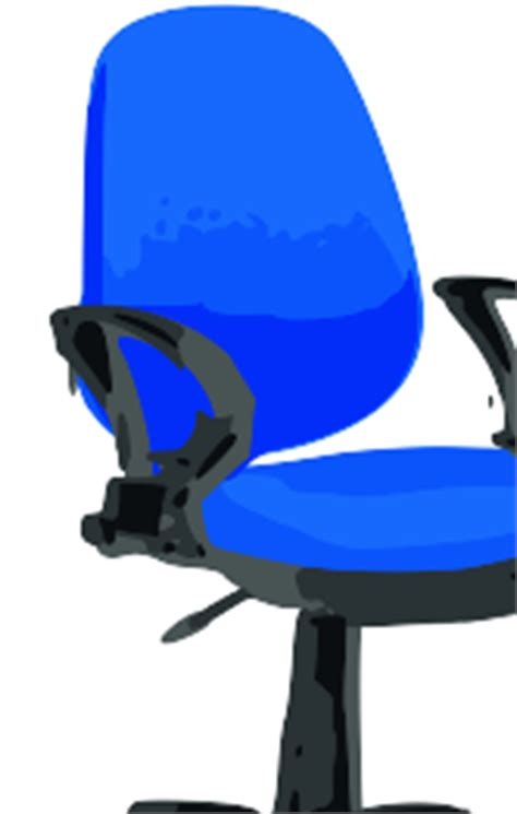 clipart desk chair blue with wheels clipart best