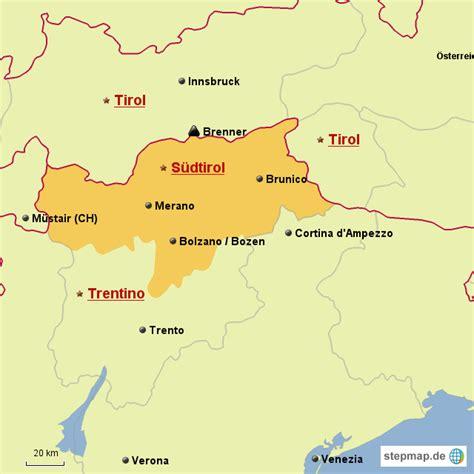 karte suedtirol von raffaeln landkarte fuer deutschland