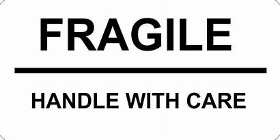 Fragile Care Handle Label Signs Template Format