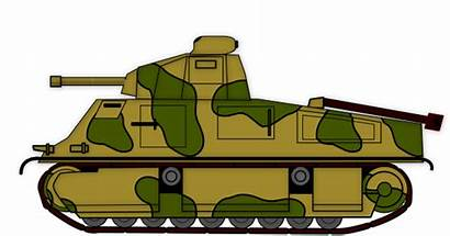 Clipart Tank Tanker Army Cliparts Transparent Clip