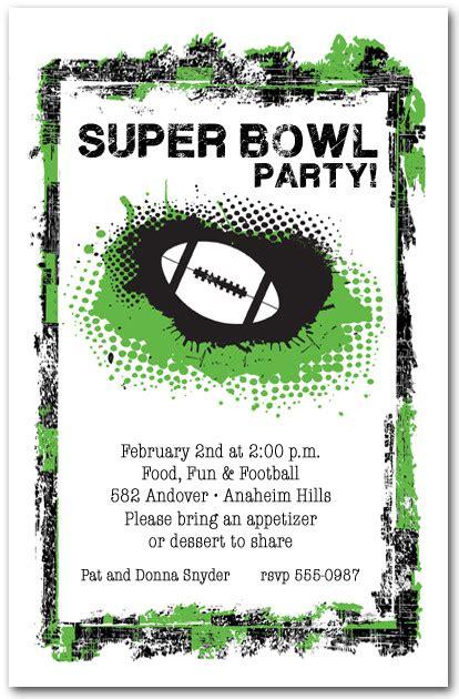 bowl invitations templates grunge football invitations