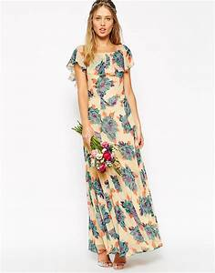 bridesmaids image 3 of asos wedding maxi dress with frill With floral maxi dress for wedding