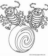 Bug Coloring Bugs Roll Tuck Cartoon Crazy Disney Pill Colouring Drawing Sheet Printable Kolorowanki Sheets Adult Temu Trawie Dawno Plate sketch template