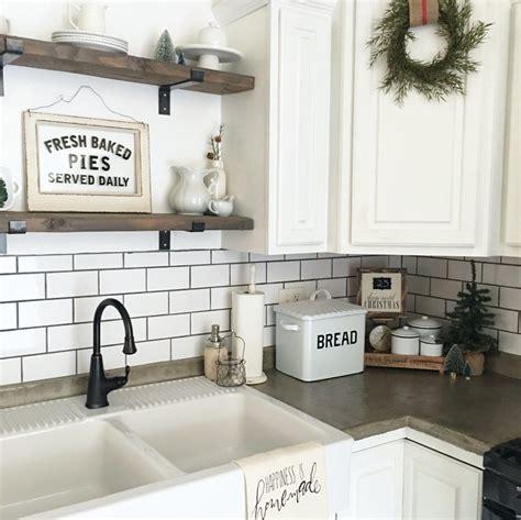 farmhouse winter kitchen the little white farmhouse blog
