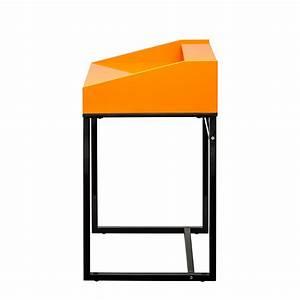 Design Sekretär Modern : sekret r orange hochglanz schwarz schreibtisch ~ Sanjose-hotels-ca.com Haus und Dekorationen