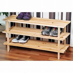 Range Chaussures Bois : range chaussures bois ~ Dode.kayakingforconservation.com Idées de Décoration