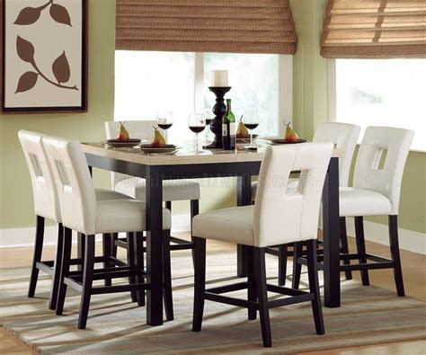 black counter height dining table wfaux marble top options
