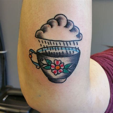 simple teacup tattoos