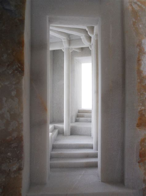 exquisite miniature interiors carved into marble and