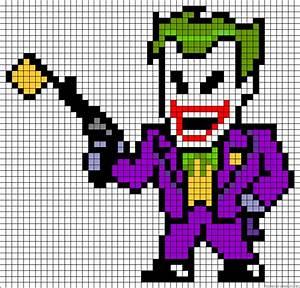 joker pixel art template With minecraft pixel art templates batman