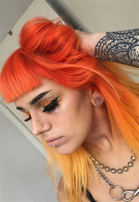 hair color combinations modeshack 187 archive 187 orange yellow hair color