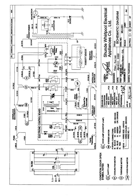 gh microwave oven schematics whirlpool microwave