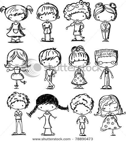 cartoon drawings  children illustration people