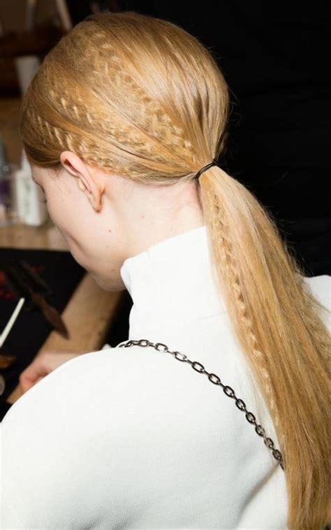 fashion week ponytail hairstyles