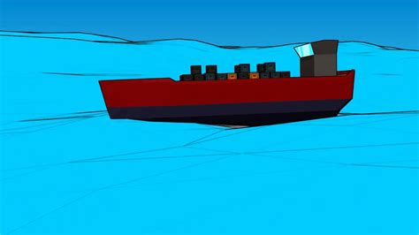 Ship Animation by Cargo Ship On The Sea Test Animation Youtube