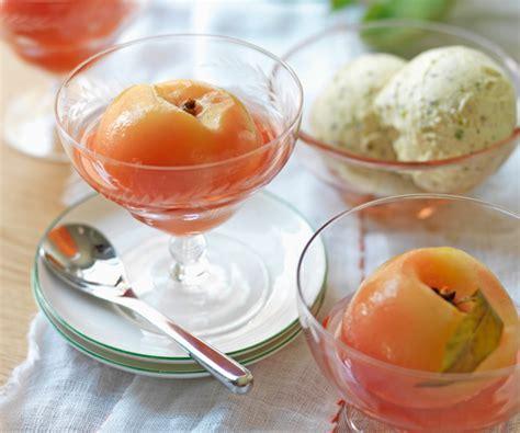dessert rapide p 234 ches poch 233 es au sirop