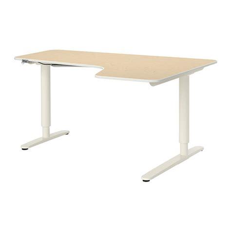 bureau debout ikea bekant bureau d 39 angle dr assis debout plaqué bouleau
