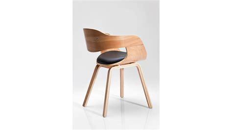 chaise bois et cuir achetez votre chaise design simili cuir noir et bois clair