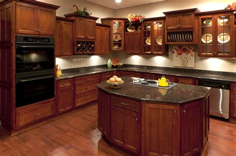 Kitchens Design Ideas Features Teak Wood Cabinetry Unit