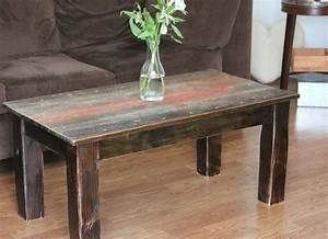 hand crafted barnwood coffee table by ross alan reclaimed With custom barnwood tables