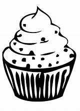 Cupcake Outline Clipart Drawing Coloring Birthday Pages Cute Cliparts Cake Cup Sweet Silhouette Clip Printable Sprinkle Library Transparent Cupcakes Clipartion sketch template