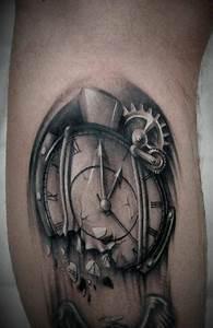 34+ Incredible Broken Clock Tattoos