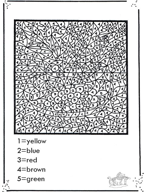 number coloring coloring  number