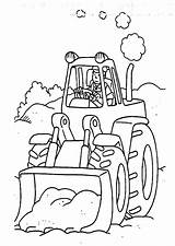 Digger Coloring Tractor Colouring Tractors Characters Sheets Fictional Printables sketch template